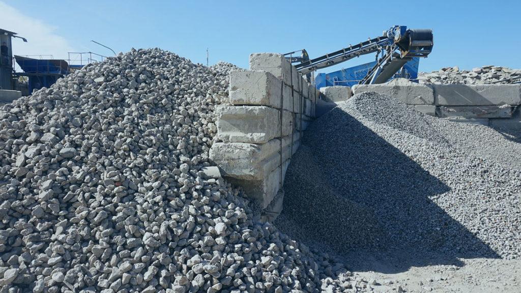 Получение бетонного щебня